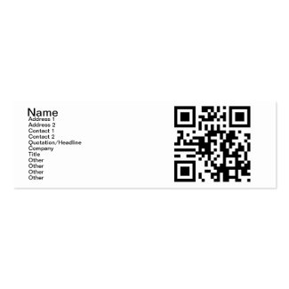 QR Code - Yes, I am Single! Business Card Template