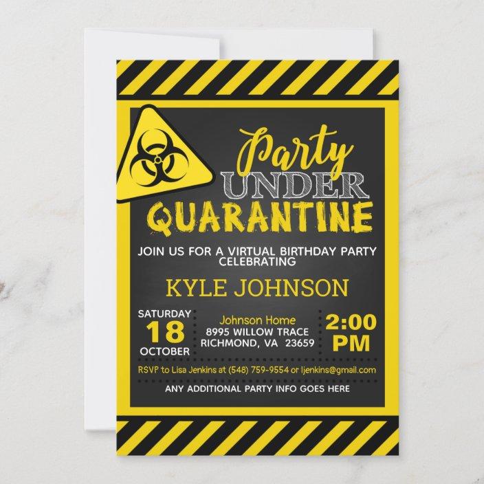 quarantine birthday invitation zazzle com