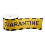 Quarantine Stripe Yellow Satin Ribbon