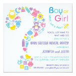 Question Mark Gender Reveal Party Invitation