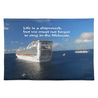 Quotes to live by. cloth place mat