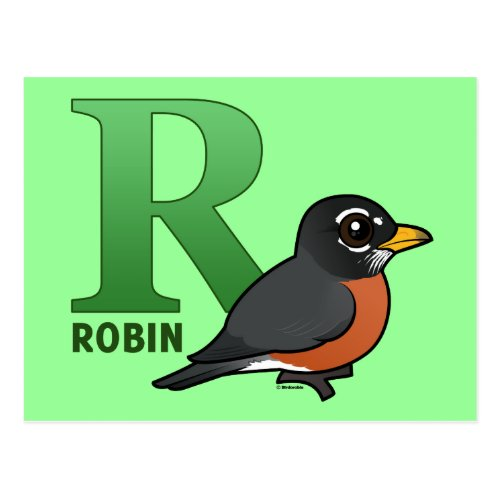 R is for Robin Postcard