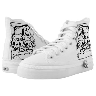 Rachel Doodle Art - Be Your Own Buzz Printed Shoes
