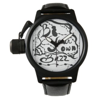 Rachel Doodle Art - Be Your Own Buzz Wristwatch