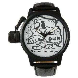 Rachel Doodle Art - Be Your Own Buzz Wristwatch