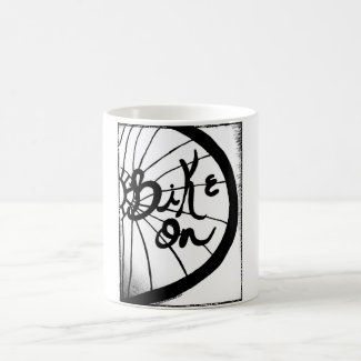 Rachel Doodle Art - Bike On Classic White Coffee Mug