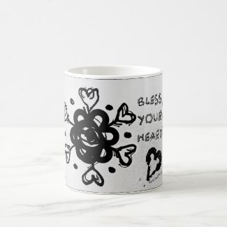 Rachel Doodle Art - Bless Your Heart Classic White Coffee Mug