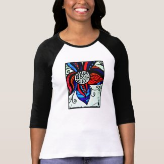 Rachel Doodle Art - Colorful Flower Tees