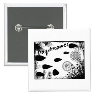 Rachel Doodle Art - Daydreamer 2 Inch Square Button