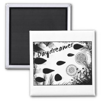 Rachel Doodle Art - Daydreamer 2 Inch Square Magnet