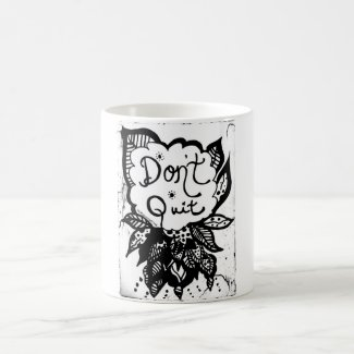 Rachel Doodle Art - Don't Quit Classic White Coffee Mug