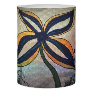 Rachel Doodle Art - Funky Flower Flameless Candle