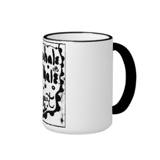 Rachel Doodle Art - Inhale, Exhale, Repeat Ringer Coffee Mug
