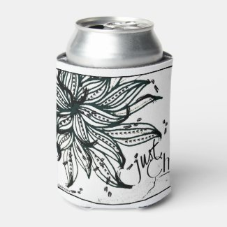 Rachel Doodle Art - Just Chill Can Cooler