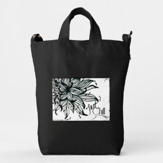 Rachel Doodle Art - Just Chill Duck Canvas Bag