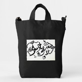 Rachel Doodle Art - Just Juice It Duck Canvas Bag