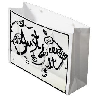 Rachel Doodle Art - Just Juice It Large Gift Bag