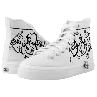 Rachel Doodle Art - Just Juice It Printed Shoes