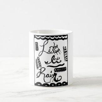 Rachel Doodle Art - Let It Rain Classic White Coffee Mug