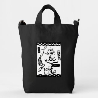 Rachel Doodle Art - Let It Rain Duck Canvas Bag