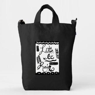 Rachel Doodle Art - Let It Rain Duck Canvas Bag