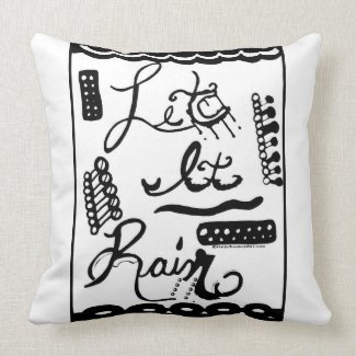 Rachel Doodle Art - Let It Rain Pillows