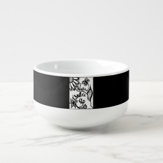 Rachel Doodle Art - Never Give Up Soup Mug