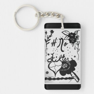 Rachel Doodle Art - No Filter Single-Sided Rectangular Acrylic Keychain