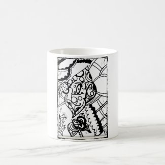 Rachel Doodle Art - Relax Classic White Coffee Mug