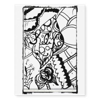 Rachel Doodle Art - Relax Temporary Tattoos