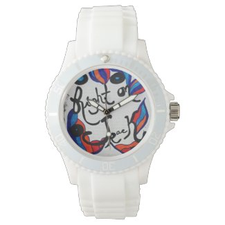 Rachel Doodle Art - Right On Track Wrist Watch