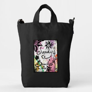 Rachel Doodle Art - Sandy Beaches Duck Canvas Bag