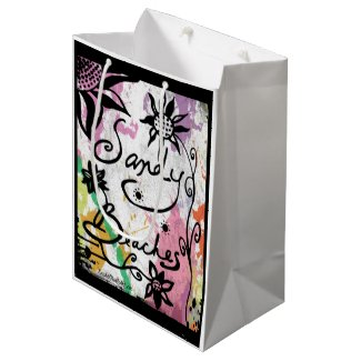 Rachel Doodle Art - Sandy Beaches Medium Gift Bag