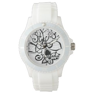 Rachel Doodle Art - Stay Focused Wrist Watch