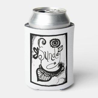 Rachel Doodle Art - Sunday Can Cooler