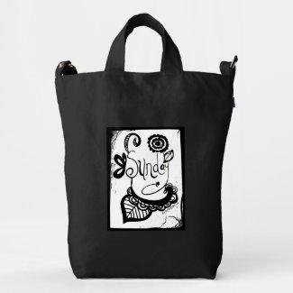 Rachel Doodle Art - Sunday Duck Canvas Bag