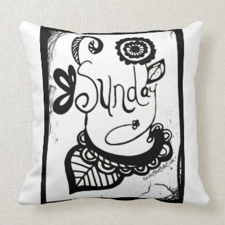 Rachel Doodle Art - Sunday Pillows