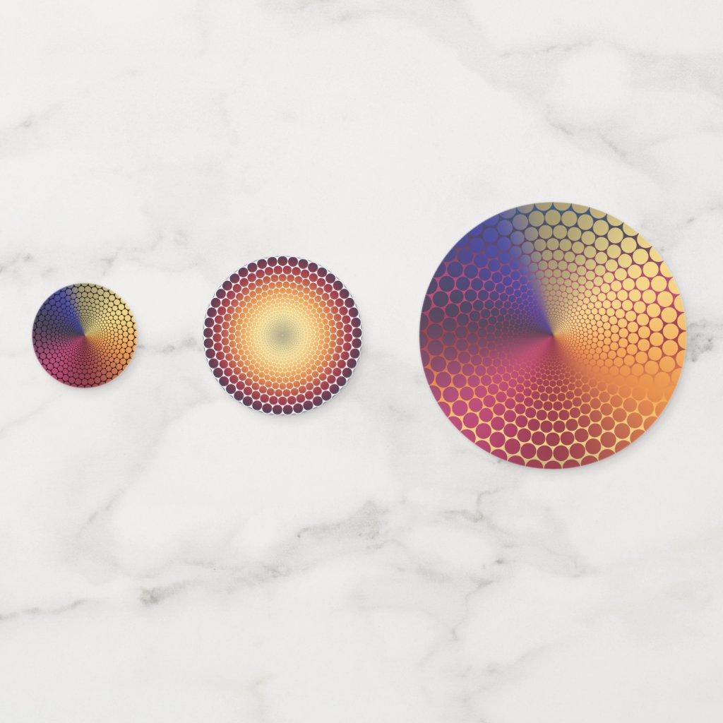 Radiant Gradient Confetti