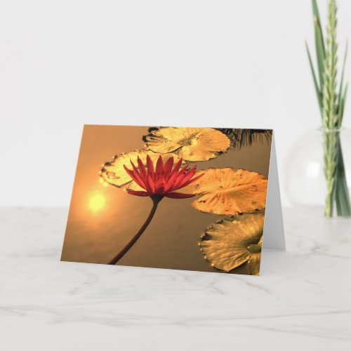 Radiant Water Lily with Spiritual Message card