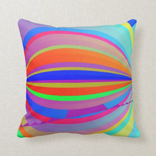 Rainbow Blast Throw Pillow