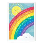 ❤️ Rainbow Cloud and Sun Birthday Invitation