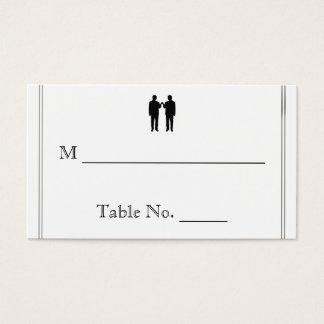 Rainbow Elegance Groom Wedding Place Cards