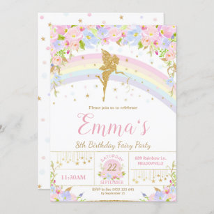 fairy birthday invitations zazzle