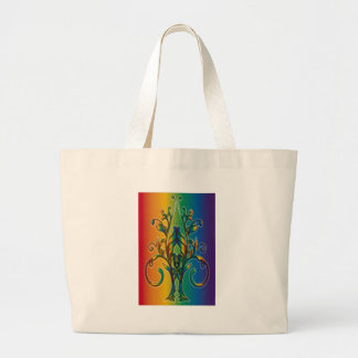 Rainbow Floral Abstract Bags