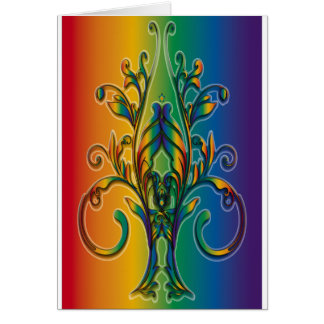 Rainbow Floral Abstract Cards