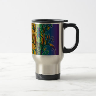 Rainbow Floral Abstract Coffee Mug