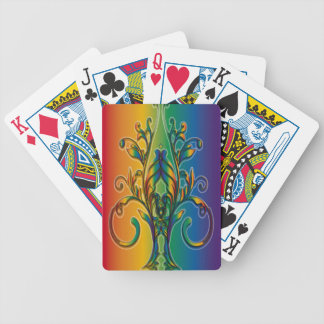 Rainbow Floral Abstract Deck Of Cards
