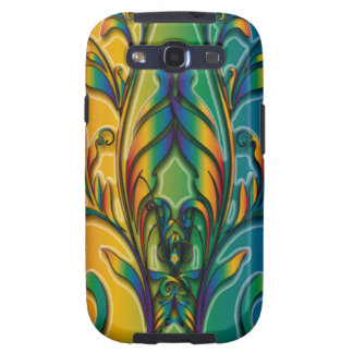 Rainbow Floral Abstract Galaxy S3 Cover