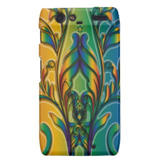 Rainbow Floral Abstract Motorola Droid RAZR Case