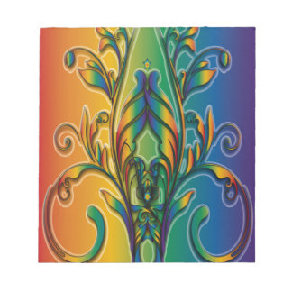 Rainbow Floral Abstract Note Pads